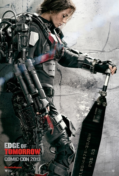 Emily Blunt ในโปสเตอร์ตัวละครจาก Edge of Tomorrow