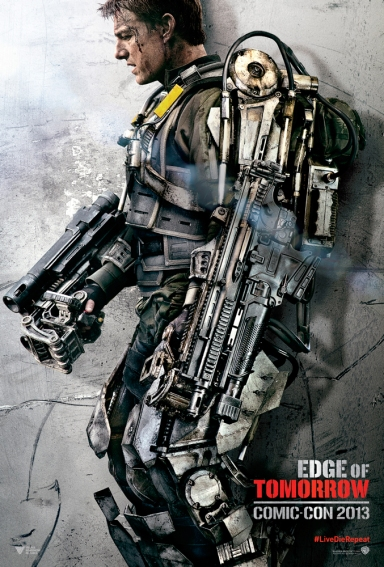 Tom Cruise ในโปสเตอร์ตัวละครจาก Edge of Tomorrow