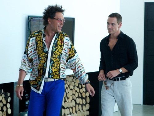 Michael Fassbender และ Javier Bardem ใน The Counsellor