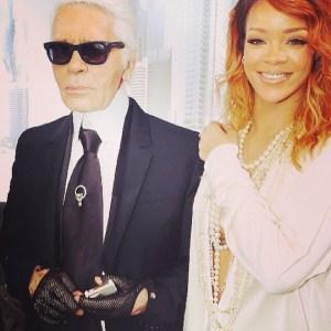 Rihanna กับ Karl Lagerfeld