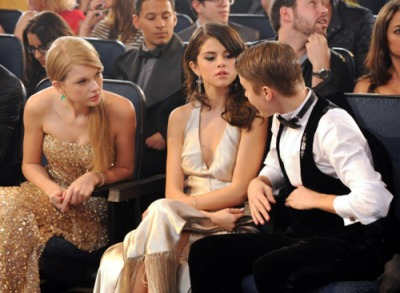 Taylor Swift, Selena Gomez และ Justin Bieber