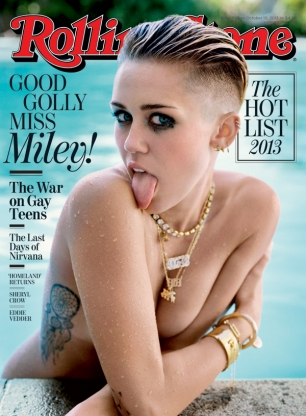 Miley Cyrus ถ่ายแบบ Rolling Stone