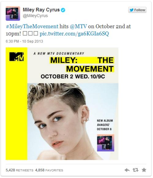 ข้อความจาก Miley Cyrus