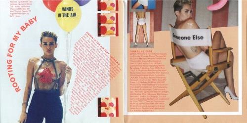 ภาพจาก Booklet อัลบั้ม Bangerz ของ Miley Cyrus