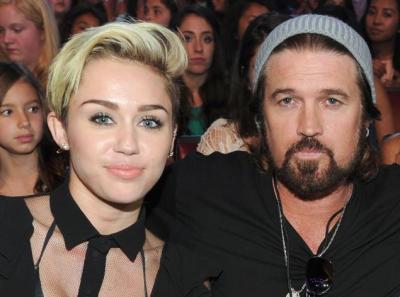 Miley และ Billy Cyrus