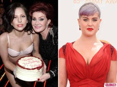 Lady GaGa ฝากเค้กให้ Kelly Osbourne