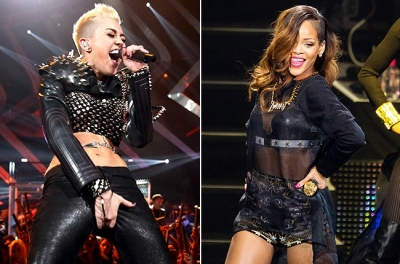 Miley Cyrus และ Rihanna