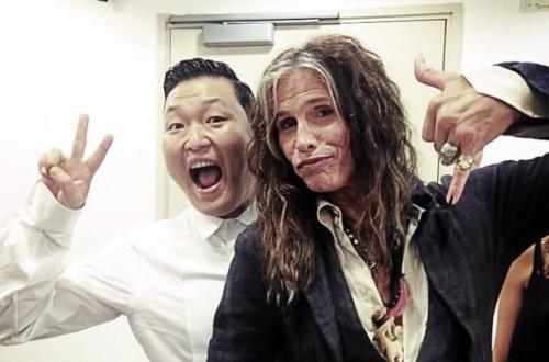 Psy และ Steven Tyler