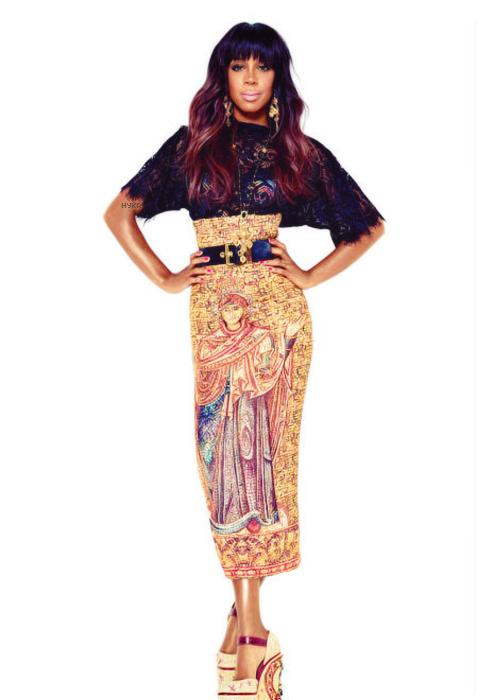 Kelly Rowland ถ่ายแบบ Elle