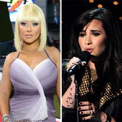 Christina Aguilera และ Demi Lovato